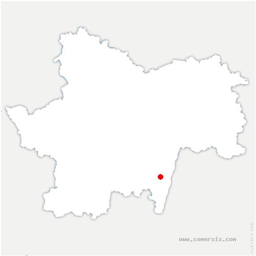 carte de localisation de Roche-Vineuse