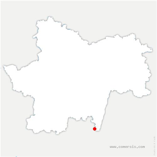carte de localisation de Romanèche-Thorins