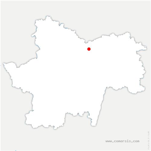 carte de localisation de Rully