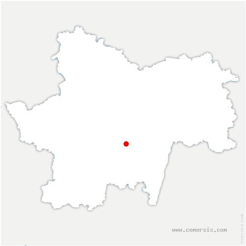carte de localisation de Saint-André-le-Désert