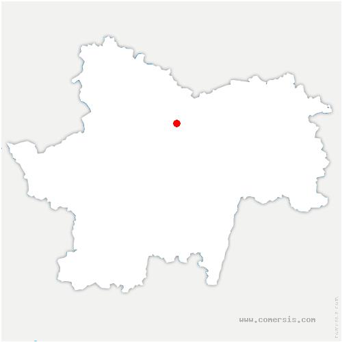 carte de localisation de Saint-Bérain-sur-Dheune