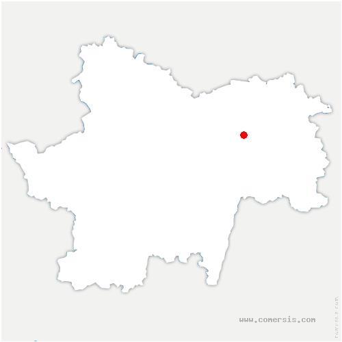 carte de localisation de Saint-Christophe-en-Bresse