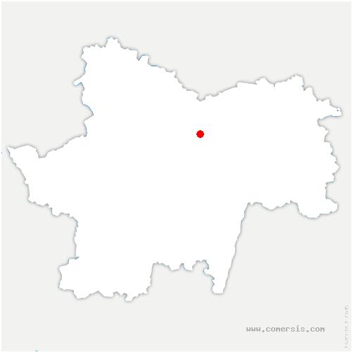 carte de localisation de Saint-Denis-de-Vaux