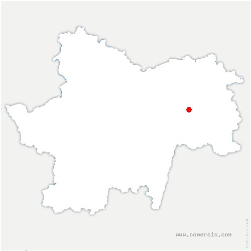 carte de localisation de Saint-Germain-du-Plain