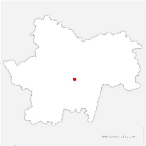 carte de localisation de Saint-Huruge