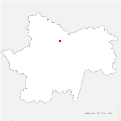 carte de localisation de Saint-Jean-de-Trézy