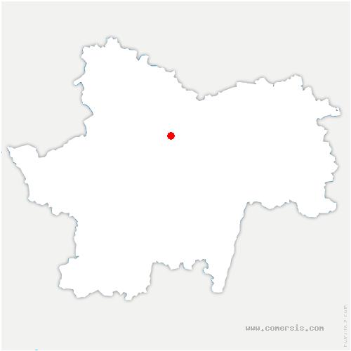 carte de localisation de Saint-Julien-sur-Dheune