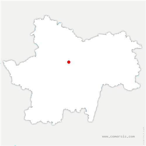 carte de localisation de Saint-Laurent-d'Andenay
