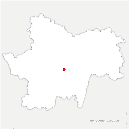 carte de localisation de Saint-Marcelin-de-Cray