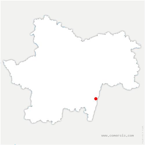 carte de localisation de Saint-Martin-Belle-Roche