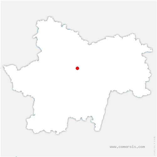 carte de localisation de Saint-Martin-d'Auxy