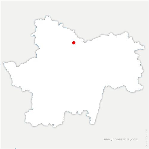 carte de localisation de Saint-Martin-de-Commune