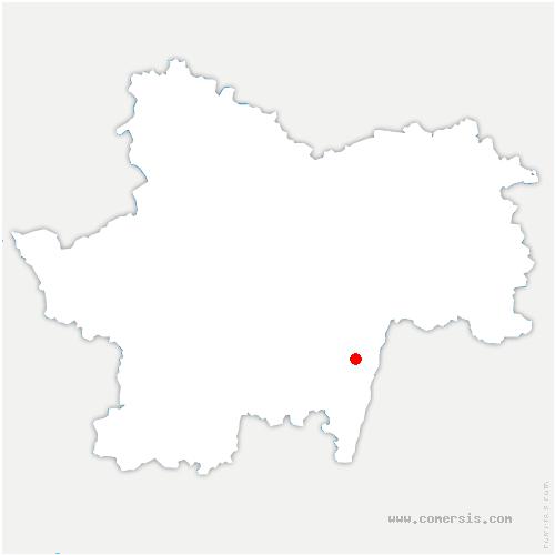 carte de localisation de Saint-Maurice-de-Satonnay