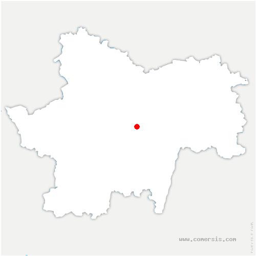 carte de localisation de Saint-Maurice-des-Champs