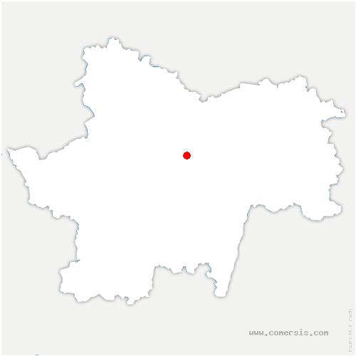 carte de localisation de Saint-Privé