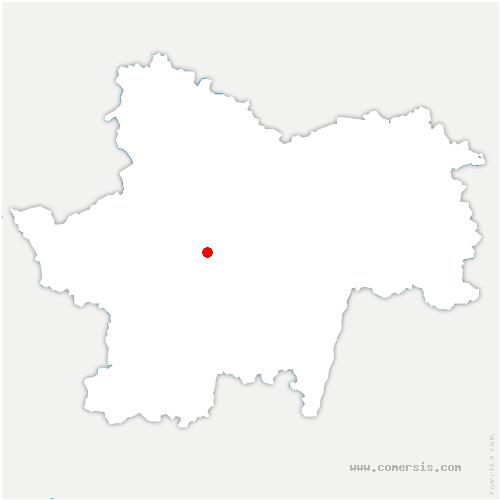 carte de localisation de Saint-Romain-sous-Gourdon