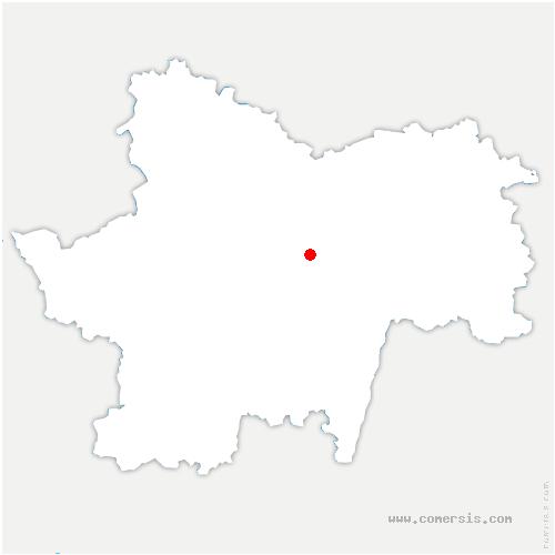 carte de localisation de Saint-Vallerin