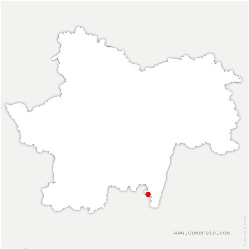carte de localisation de Saint-Vérand