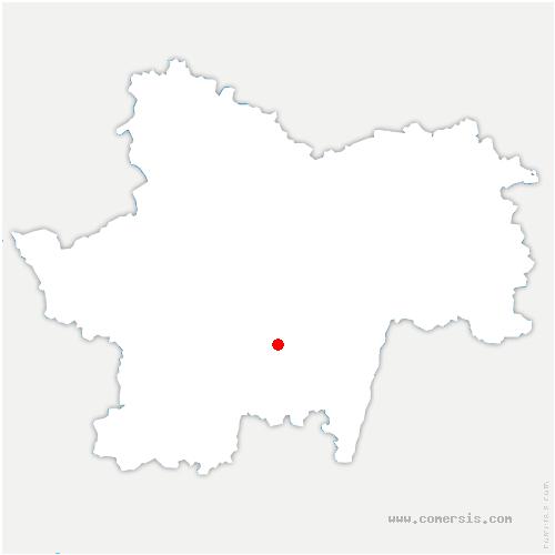carte de localisation de Saint-Vincent-des-Prés