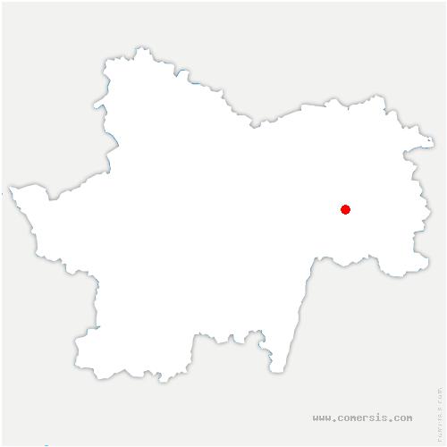 carte de localisation de Saint-Vincent-en-Bresse