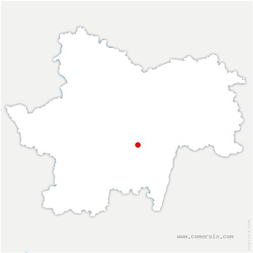 carte de localisation de Salornay-sur-Guye