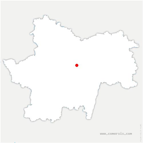 carte de localisation de Savianges