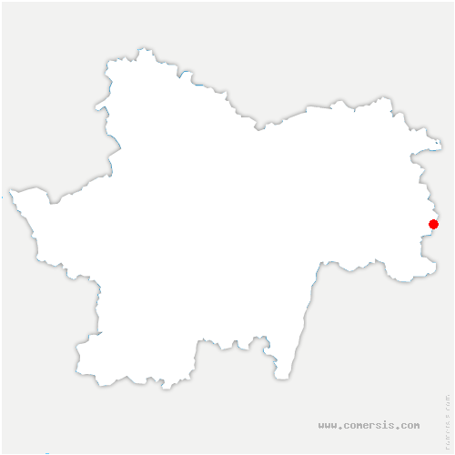 carte de localisation de Savigny-en-Revermont