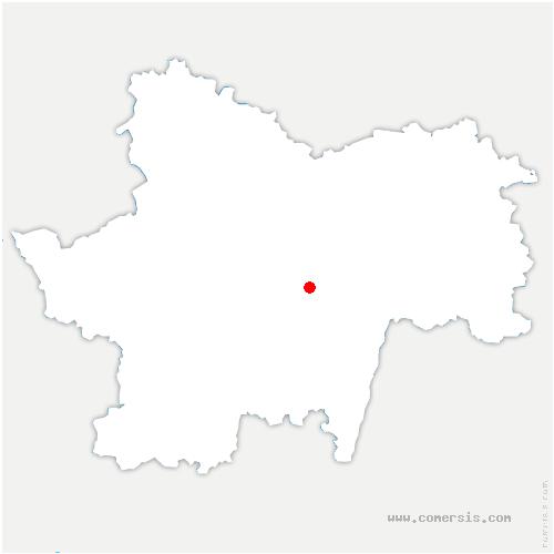 carte de localisation de Savigny-sur-Grosne