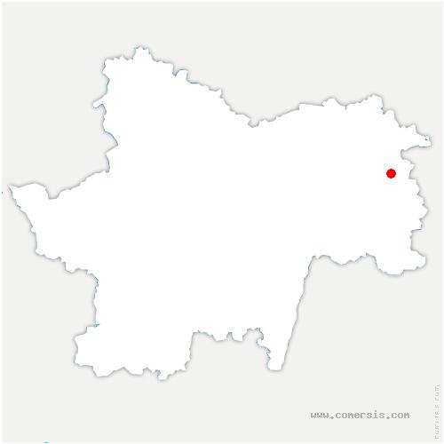 carte de localisation de Sens-sur-Seille