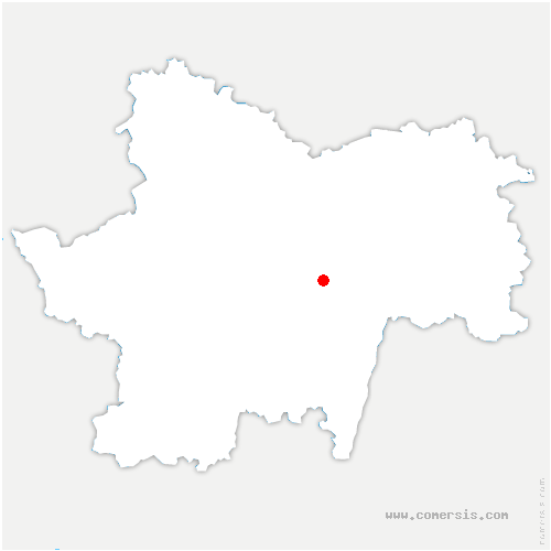 carte de localisation de Sercy