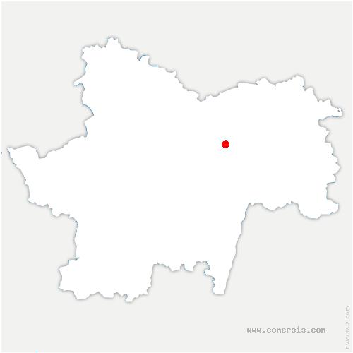 carte de localisation de Sevrey