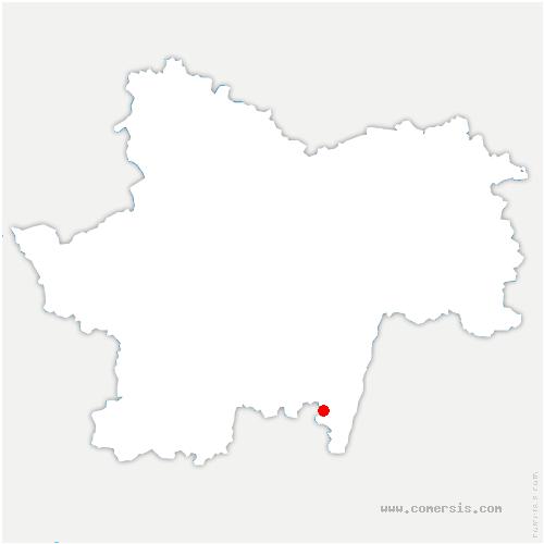carte de localisation de Solutré-Pouilly