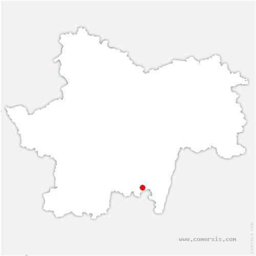 carte de localisation de Tramayes