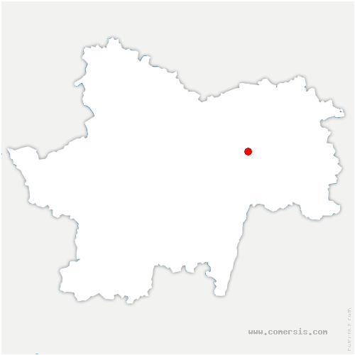 carte de localisation de Varennes-le-Grand