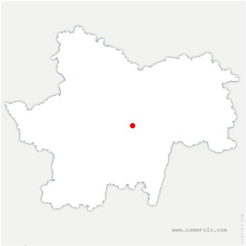 carte de localisation de Vaux-en-Pré