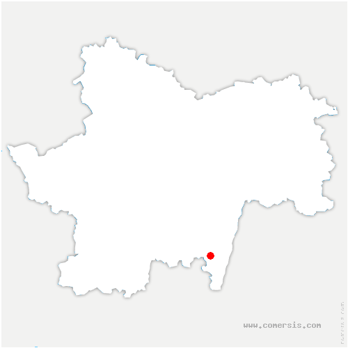 carte de localisation de Vergisson