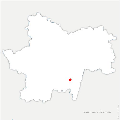 carte de localisation de Verzé