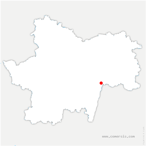 carte de localisation de Villars