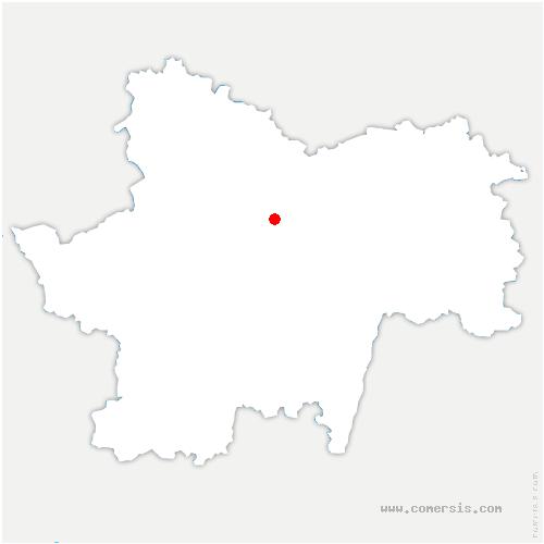 carte de localisation de Villeneuve-en-Montagne