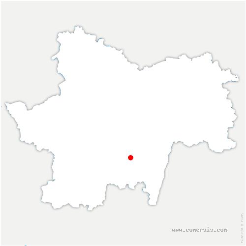 carte de localisation de Vineuse sur Fregande