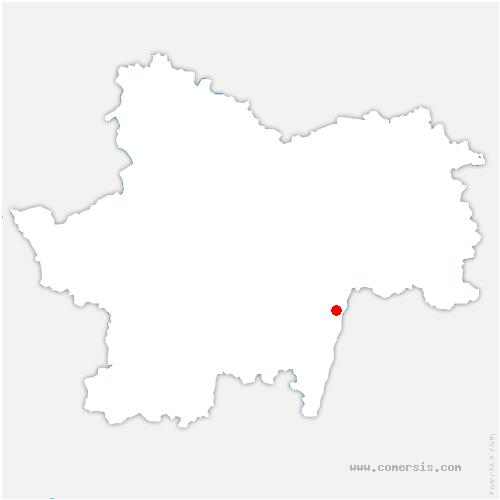 carte de localisation de Viré