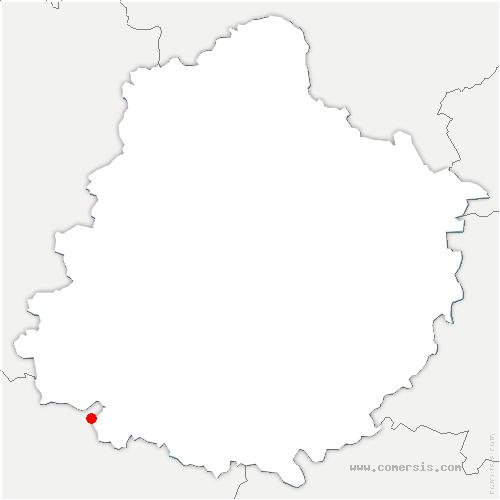 carte de localisation de Bazouges Cré sur Loir