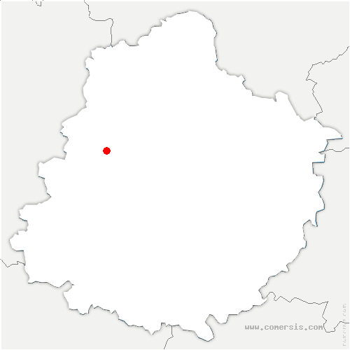 carte de localisation de Bernay-Neuvy-en-Champagne