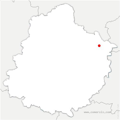 carte de localisation de Cherré-Au