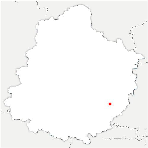 carte de localisation de Courdemanche