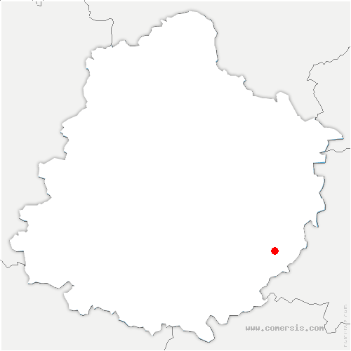carte de localisation de Loir en Vallée