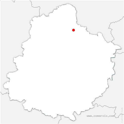 carte de localisation de Marolles-les-Braults