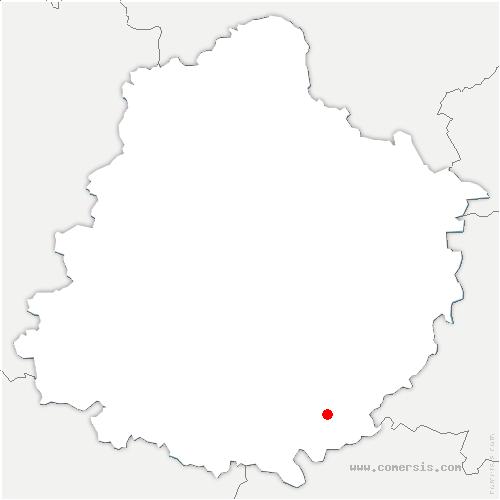 carte de localisation de Montval-sur-Loir