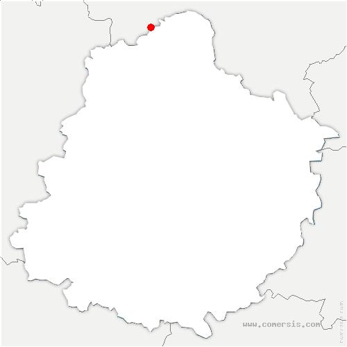 carte de localisation de Saint-Paterne - Le Chevain