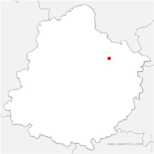 carte de localisation de Tuffé-Val-de-la-Chéronne